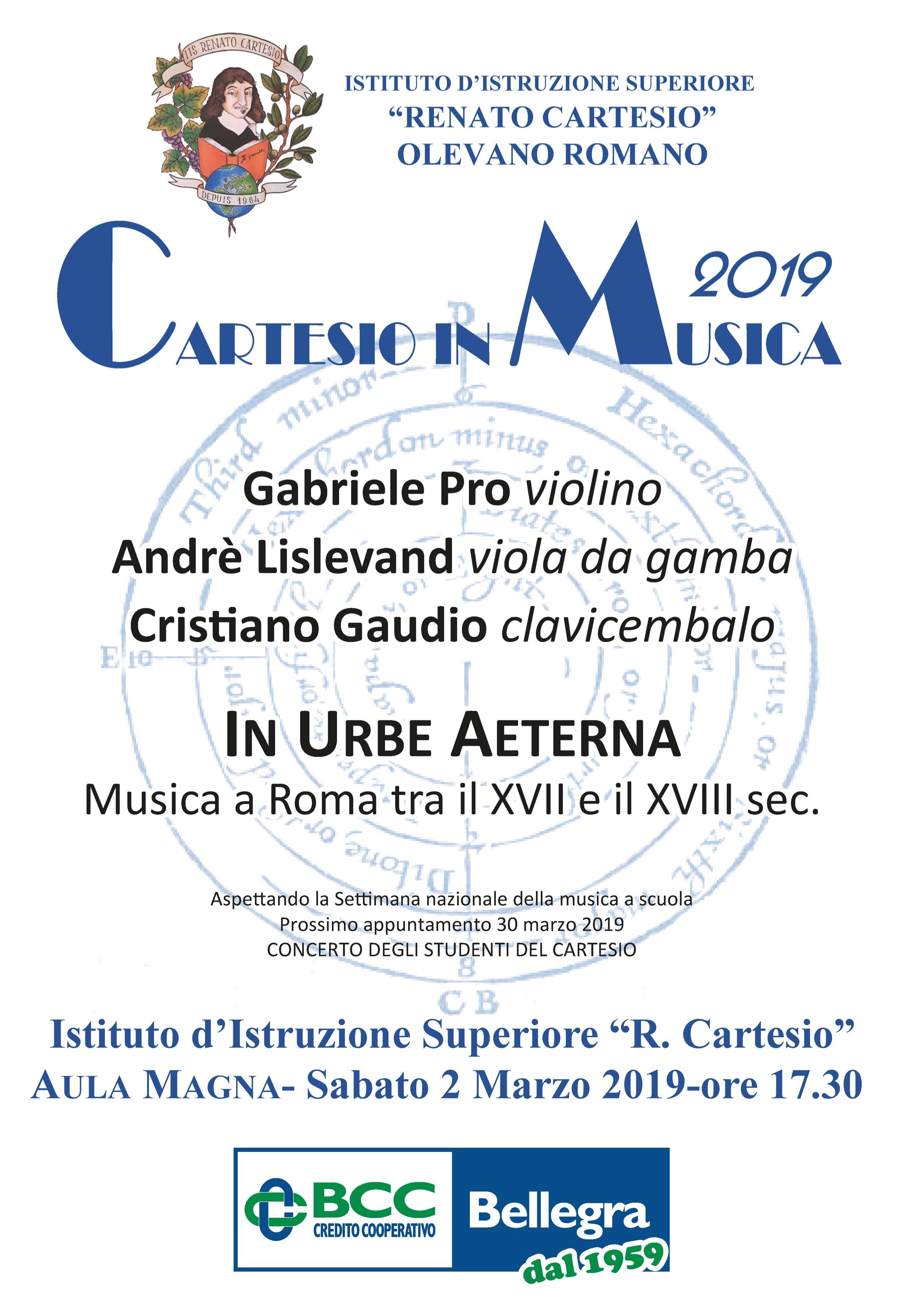 ffb42ff07ed6 Cartesio in musica 2019
